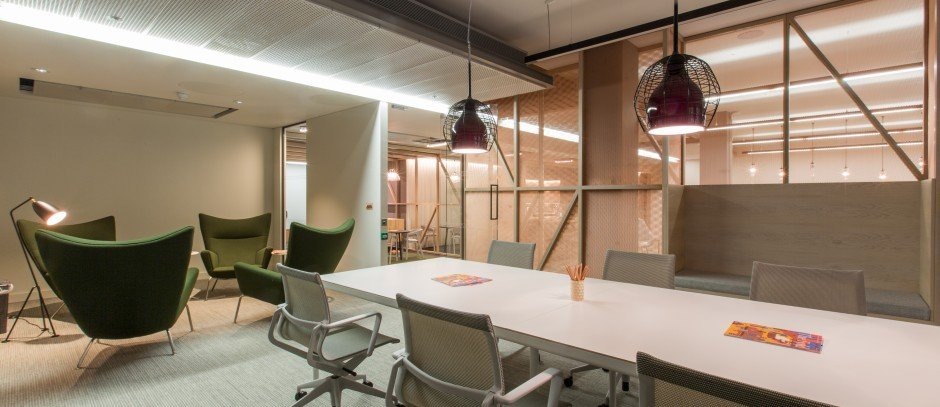 Informal meeting room at creative workspace provider The Office Group