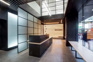 Contemporary Reception Area for this Covent Garden Office Space