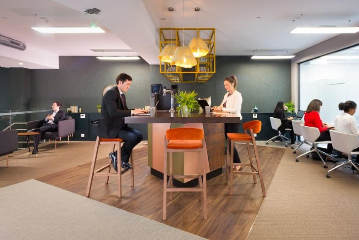 Fitzrovia coworking lounge